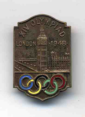 1948 London Olympics original souvenir badge/pin