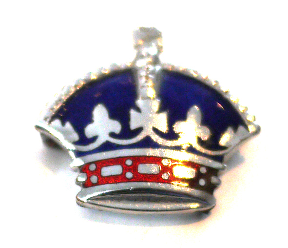 1953 enamel coronet badge