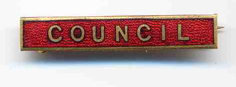 Council enamel badge