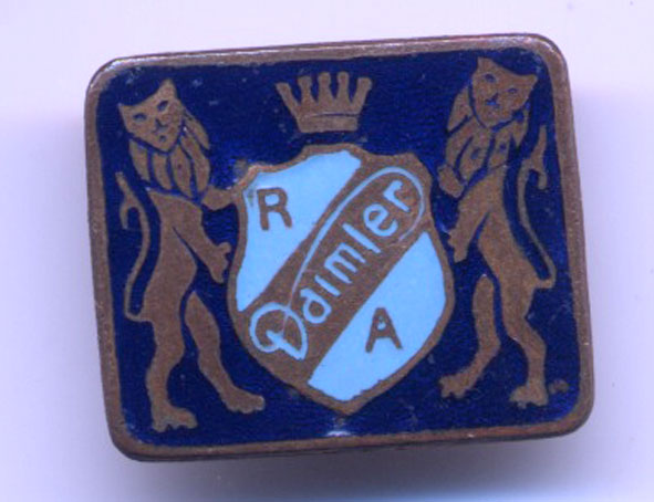 1940s enamel Daimler owners badge