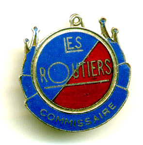 Routiers Commissaire enamel badge
