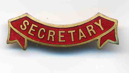 secretary enamel badge