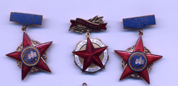 Romanian socialist badges