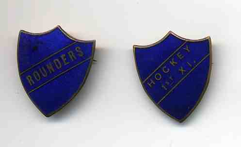enamel school sports badges