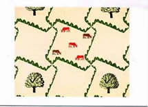 Bawden Trees and Cows wallpaper