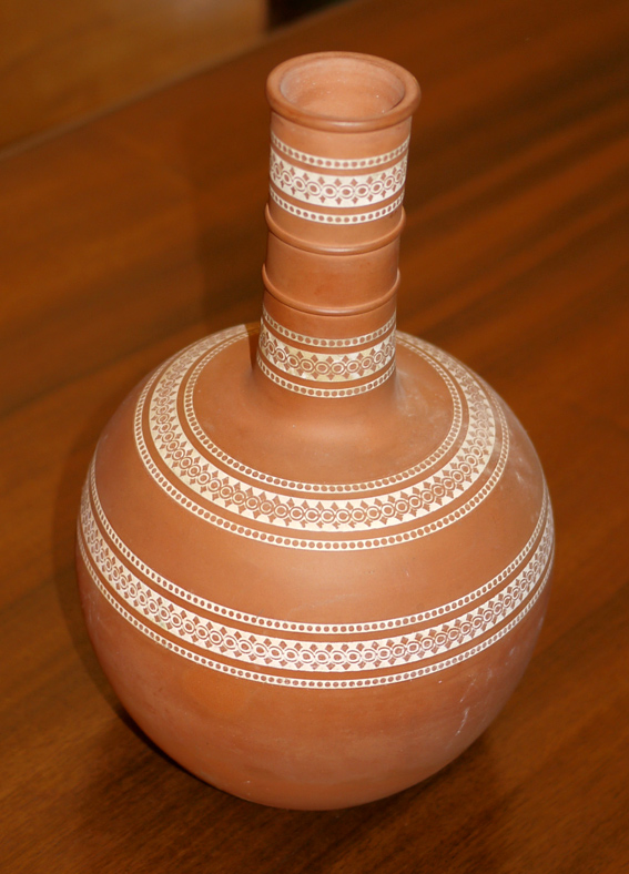 terracotta arts & crafts vase