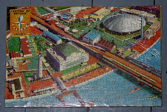 1951 Festival of Britain jigsaw depicting the South Bank London