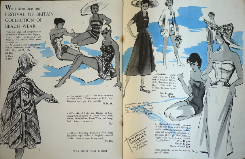 Festival of Britain Marshall & Snelgrove fashion brochure