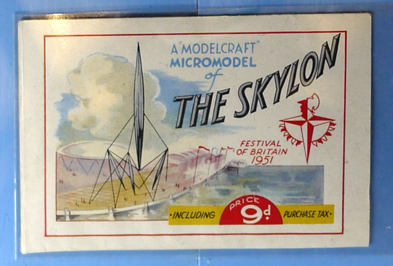 1951 Festival of Britain micromodel of Skylon