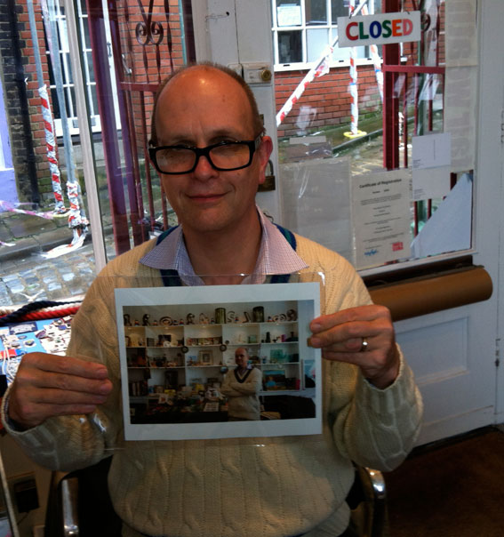 Paul proudly holding Martin Parr photo