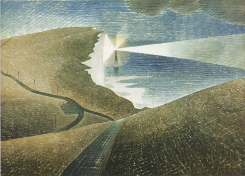 Beachyhead greetings card by Eric Ravilious