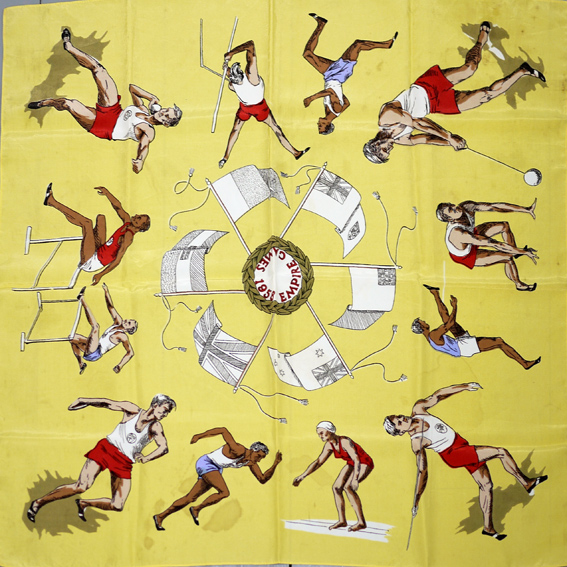 1958 Empire Games souvenir scarf