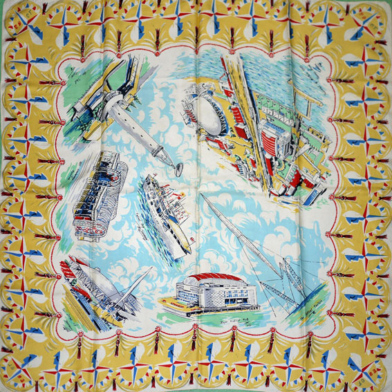 festival of britain silk scarf 1951