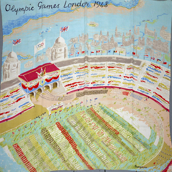 1948 London Olympics souvenir scarf