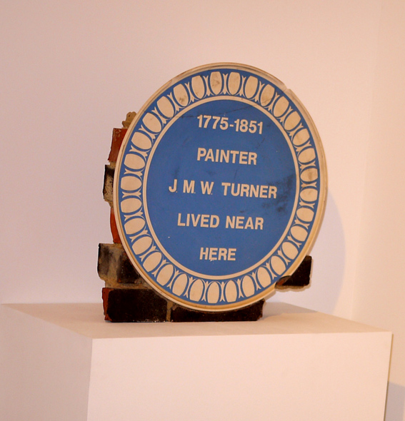 Turner plaque in Turner Contemporary